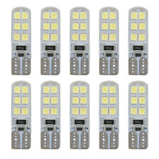 10Pcs T10 2835 12SMD LED CANBUS Error Free Silica White Light Bulbs Xenon12V W5W