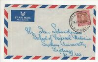New Zealand nice 1953 KGV1 1/- AIR MAIL cover to Sydney