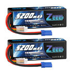 2x Zeee 11.1V 3S 5200mAh LiPo Battery 80C EC5 for RC Car Truck Buggy Helicopter