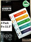 4 Pack of EASY Self Laminating Sheets 9 x 11.5 NO TOOLS NEEDED Free Ship ID Card
