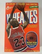 Vintage Michael Jordon Wheaties Box 18 oz  With Basketball Offer in Back Empty