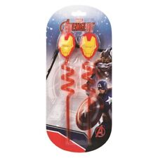AVENGERS New Pack of 2 Disney Finding  Plastic Reusable Crazy Straws