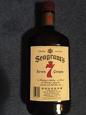"COLLECTABLE "" SEAGRAM'S 7 "" OLD BROWN WHISKEY BOTTLE."