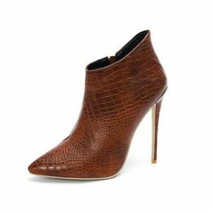 Womens New Fashion Sexy Faux Suede Two Tone Stiletto Party Ankle Boots Shoes