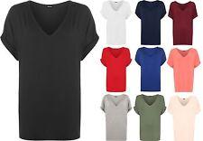 Viscose Short Sleeve Basic T-Shirts for Women