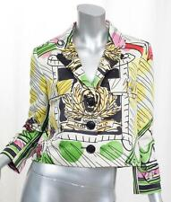 MOSCHINO CHEAP AND CHIC Womens Multicolor Scribble Print Jacket Blazer 40/S NEW