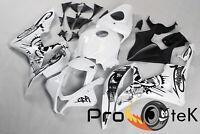 For 2007-2008 Honda CBR600RR Graffiti Black Whit ABS Plastic Fairings Bodywork