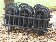 Plastic Fencing Lawn Grass Border Garden Edging Picket Fence -Interlocking