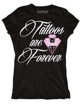 Tattoos Are Forever Diamond Women's Large Black T-Shirt Steadfast