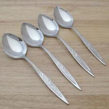 Oneida Royal Harvest Stainless Soup Spoons Raised Design Leaves on Handle 4