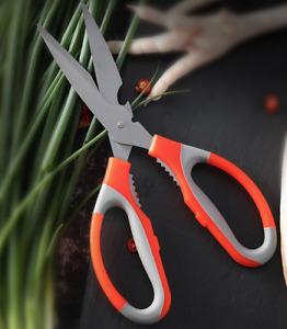 Xmas Multi-Purpose  Kitchen Shears Scissors Bottle Opener Stainless Steel