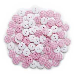 50pcs Grid Resin Buttons for Sewing Scrapbooking Cloth Home Crafts Decor 13mm