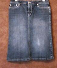 Jupe MANGO T36 - Jupe bleue en jean tout coton (1804074)