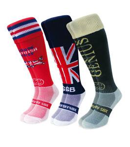 WackySox 3 Pair Saver Pack Rugby Socks, Hockey Socks - Best of British