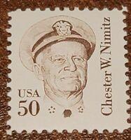 Scott#: 1869 - Great Americans: Admiral Chester W. Nimitz Single Stamp MNH OG