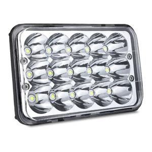 """1x 4x6"""" LED Headlight Hi/Lo H4651 For Kenworth Peterbilt 357 379 378 T800 W900"""