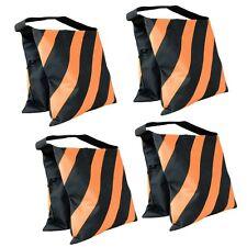 4 Pack Orange Sand Bag Saddlebag 20lbs for Photo Video Studio Light Stand Tripod