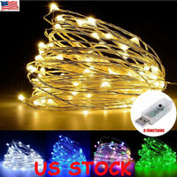 USB 10M 100 LEDs Fairy String Micro Copper Wire Lights CHRISTMAS Wedding Party