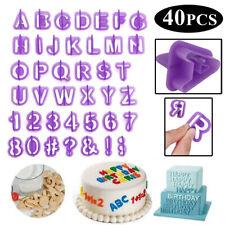 40PCS ALPHABET NUMBER LETTER FONDANT CAKE MOULD MOLD CUTTER DECORATING ICING