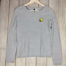 H & M Divided Large Cable Knit Light Gray Sweater Women's Long Sleeve Blouse