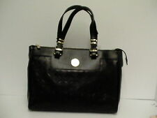 Versace borsa black leather tote handbag vitello nappato laser cut new