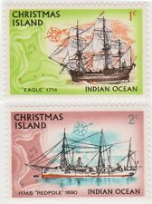 (R8-5)1972Christmas Island ships 1c- $1.00 mint ow37-52