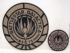 "BATTLESTAR GALACTICA TAN Patch Set of 2-Large Jacket 8"" & 4"" Logo (BGPA-01S2)"