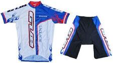 GUB Cycling Jersey and Short Set 1/2 Zipper, Lycra, Spandex Blue/White 4XL