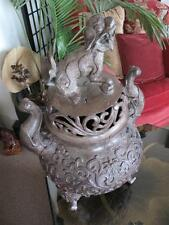 Antique Chinese Bronze Foo / Fu Dog Incense Burner... JUST REDUCED!!!