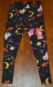 Women's Faded Glory Halloween Ghost Pumpkins Bats Soft Leggings S, M, L