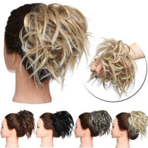 Premium Elastic Messy Bun Hair Piece Scrunchie Updo Hair Extension Real Ponytail