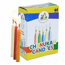 Box of 44 Kosher Chanuka Hannuka Colourful Wax Candles for Lighting the Menora