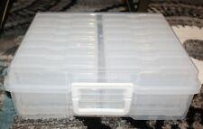 "Iris Large Photo / Craft Storage Case w 16 Individual Inner Cases 4"" x 6"" each"