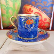 Unboxed Decorative Date-Lined Ceramic Cups & Saucers
