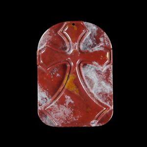 Fancy Jasper 60x40x8 mm CROSS bead GL607035