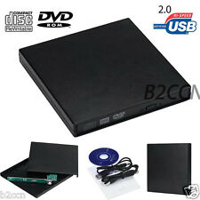 USB 2.0 IDE Laptop Notebook CD DVD RW Burner ROM Drive External Case Enclosure