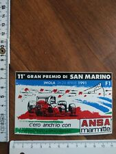 alter Formel 1 Aufkleber Grand Prix San Marino Imola 1991 - Autodromo Ferrari
