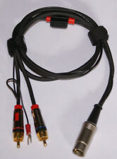 Bang Olufsen Turntable Cable 5 Pin Male DIN to Monster RCA Males W/Ground NEW