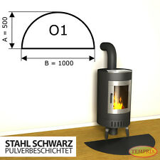 Kaminbodenplatte ✔ Funkenschutz ✔ Ofenplatte Kaminofenplatte ✔ Stahl schwarz O1