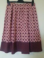 Topshop Vintage Retro Floral Gypsy Skirt Size 12