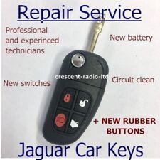 Jaguar X S XJ XK XJR Type 4 Button Remote Key Fob Repair Refurbishment SERVICE