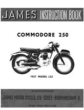 (0656) 1957 James Commodore L25 instruction book