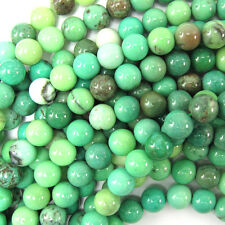 "6mm green chrysoprase round beads 15.5"" strand S2"