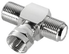 2x Sat T-Stück F-Kabel Kupplung Adapter Verbinder Y Weiche Verteiler F-Stecker