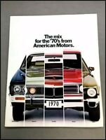 1970 AMC Sales Brochure Catalog - AMX Javelin Hornet Ambassador Rebel Machine