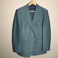 Vintage Mens 2pc Blue Giuseppi Verdi Sandford Jacket and Vest Made in Korea 42R