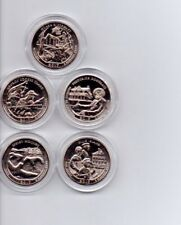 2017-S SET OF 5 ATB QUARTERS IN AIR-TITE HOLDERS