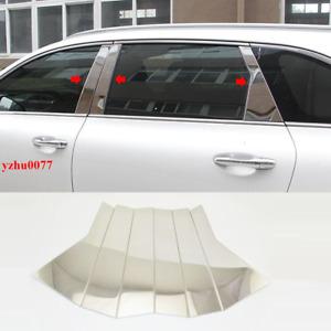 2016-2020 For Kia Sorento stainless stee Chrome Window Pillar Posts trim 6pcs