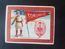 MURAD 1910 T51 cigarette tobacco card - UNIVERSITY OF TORONTO CANADA