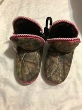 Mossy Oak Womens Forest Design Faux Suede Textile High Top Slippers Size L 9-10